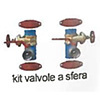 Irritec Ball valves kit for sand filter ER dn 125 - 600 kg