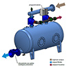 Irritec KPB 2 outlets - Backwash automation kit